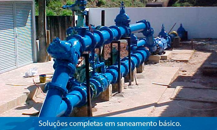 Soluções completas em saneamento básico.